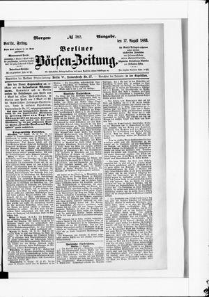 Berliner Börsen-Zeitung vom 17.08.1883