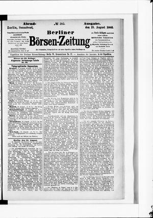Berliner Börsen-Zeitung vom 18.08.1883