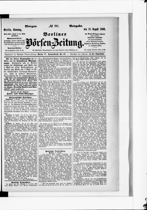 Berliner Börsen-Zeitung vom 19.08.1883