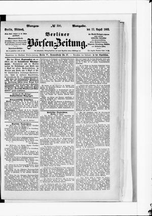 Berliner Börsen-Zeitung vom 22.08.1883