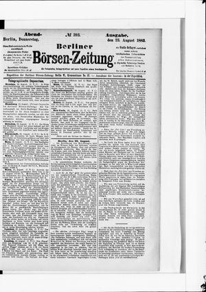 Berliner Börsen-Zeitung vom 23.08.1883