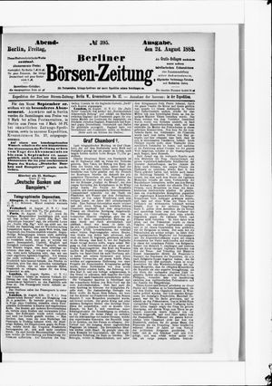 Berliner Börsen-Zeitung vom 24.08.1883