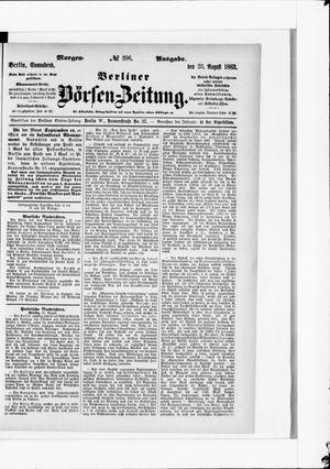 Berliner Börsen-Zeitung vom 25.08.1883
