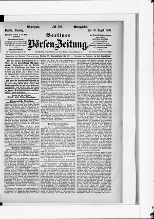 Berliner Börsen-Zeitung vom 26.08.1883