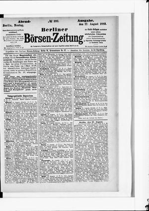 Berliner Börsen-Zeitung vom 27.08.1883