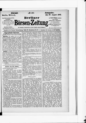 Berliner Börsen-Zeitung vom 29.08.1883