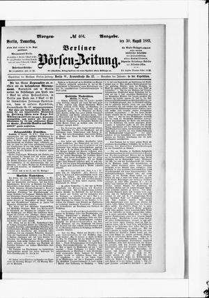 Berliner Börsen-Zeitung vom 30.08.1883