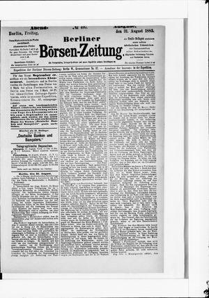 Berliner Börsen-Zeitung vom 31.08.1883