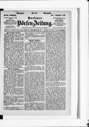 Berliner Börsen-Zeitung vom 01.09.1883