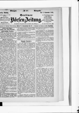 Berliner Börsen-Zeitung vom 02.09.1883