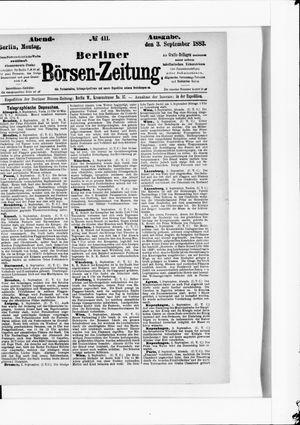 Berliner Börsen-Zeitung vom 03.09.1883