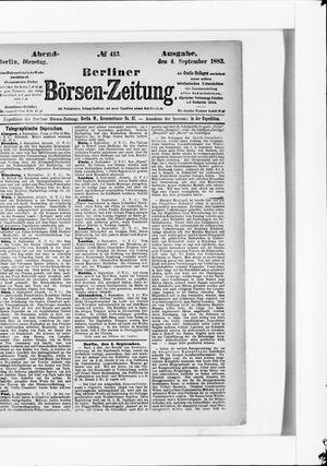 Berliner Börsen-Zeitung vom 04.09.1883