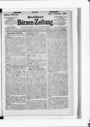 Berliner Börsen-Zeitung vom 05.09.1883