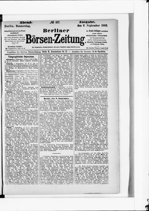 Berliner Börsen-Zeitung vom 06.09.1883