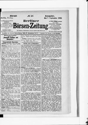 Berliner Börsen-Zeitung vom 07.09.1883