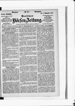 Berliner Börsen-Zeitung vom 08.09.1883