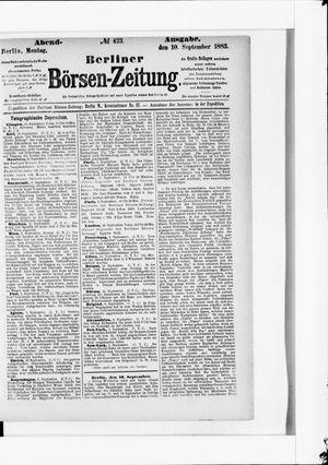 Berliner Börsen-Zeitung vom 10.09.1883