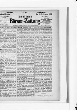 Berliner Börsen-Zeitung vom 11.09.1883