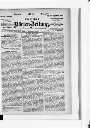Berliner Börsen-Zeitung vom 12.09.1883