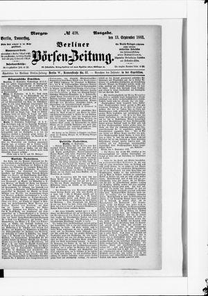 Berliner Börsen-Zeitung vom 13.09.1883