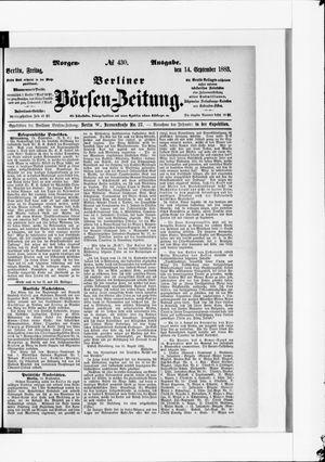 Berliner Börsen-Zeitung vom 14.09.1883