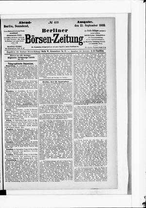 Berliner Börsen-Zeitung vom 15.09.1883