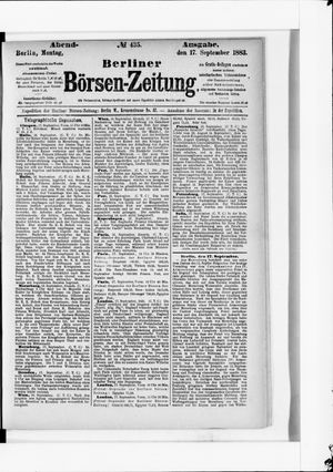 Berliner Börsen-Zeitung vom 17.09.1883