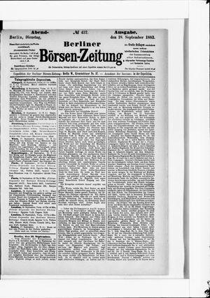 Berliner Börsen-Zeitung vom 18.09.1883