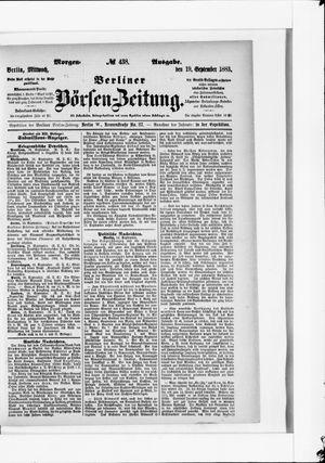 Berliner Börsen-Zeitung vom 19.09.1883
