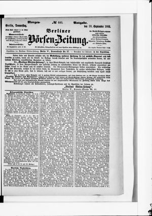Berliner Börsen-Zeitung vom 20.09.1883