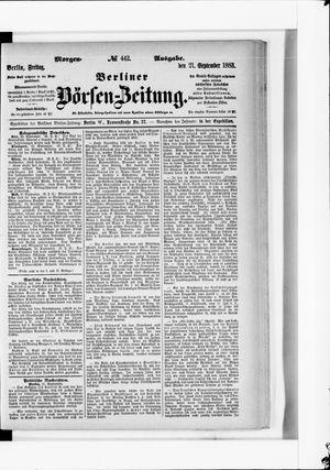 Berliner Börsen-Zeitung vom 21.09.1883