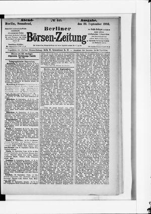 Berliner Börsen-Zeitung vom 22.09.1883
