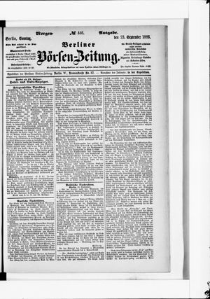 Berliner Börsen-Zeitung vom 23.09.1883