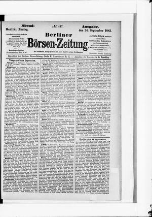 Berliner Börsen-Zeitung vom 24.09.1883