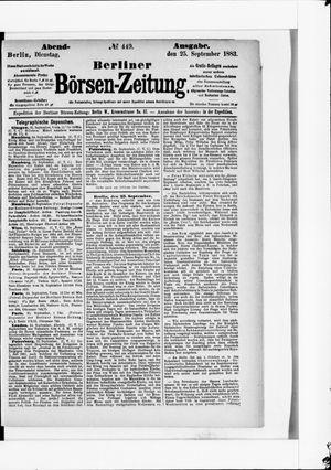 Berliner Börsen-Zeitung vom 25.09.1883
