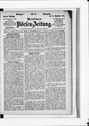 Berliner Börsen-Zeitung vom 26.09.1883