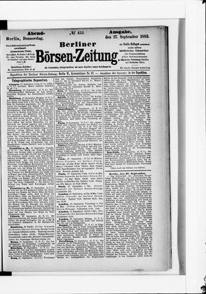 Berliner Börsen-Zeitung vom 27.09.1883