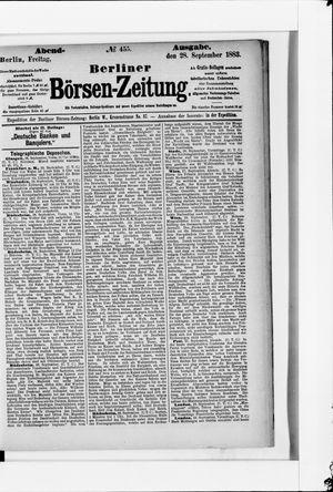Berliner Börsen-Zeitung vom 28.09.1883