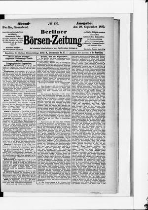 Berliner Börsen-Zeitung vom 29.09.1883