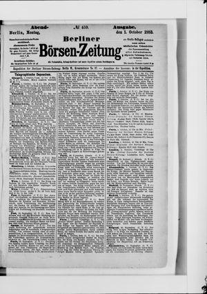 Berliner Börsen-Zeitung vom 01.10.1883