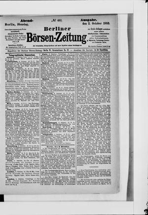 Berliner Börsen-Zeitung vom 02.10.1883