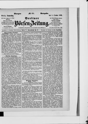 Berliner Börsen-Zeitung vom 04.10.1883