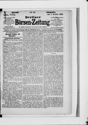 Berliner Börsen-Zeitung vom 05.10.1883