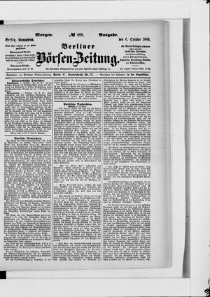 Berliner Börsen-Zeitung vom 06.10.1883