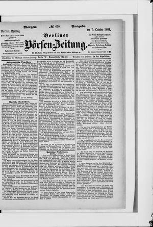 Berliner Börsen-Zeitung vom 07.10.1883
