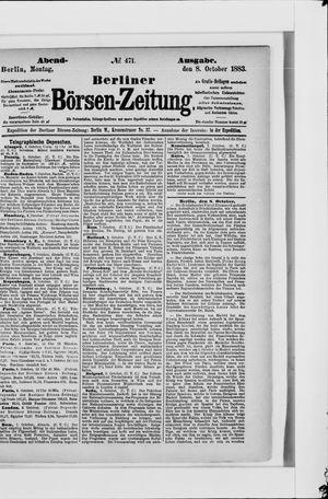 Berliner Börsen-Zeitung vom 08.10.1883