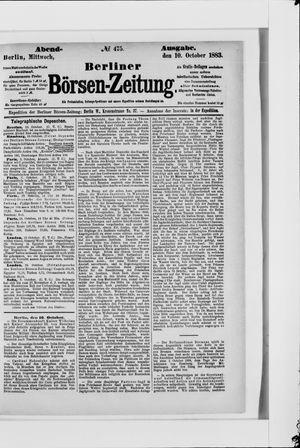 Berliner Börsen-Zeitung vom 10.10.1883