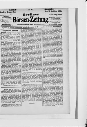 Berliner Börsen-Zeitung vom 11.10.1883