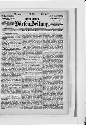 Berliner Börsen-Zeitung vom 13.10.1883