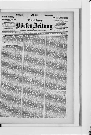 Berliner Börsen-Zeitung vom 14.10.1883